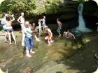 Eine Pause am Wasserfall