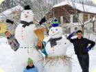 Schneemann bauen vom Feinsten ;-)