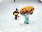 Reifen  im Schnee  Winterspaß am Talhof